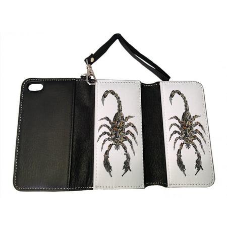 KuzmarK iPhone SE Wallet Handbag Case - Scorpion