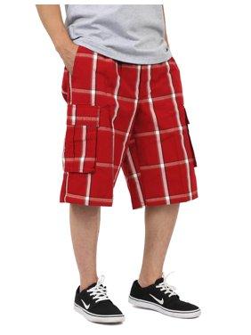 Ma Croix Mens PLAID SHORTS Cargo Pants Casual Comfort Fit S-5XL