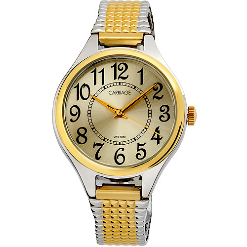 Carriage by Timex Women's Carolyn Watch, Two-Tone Stainless Steel Expansion Band by Carriage by Timex