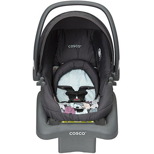 Cosco Light N Comfy DX Infant Car Seat, Blue Elephant Puzzle