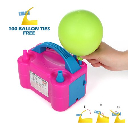 Electric Balloon Inflator Air Pump Massive Balloons Blower US Standard Plug for Balloon Arch, Balloon Column stand, and Balloon Decoration](Party Balloon Pump)