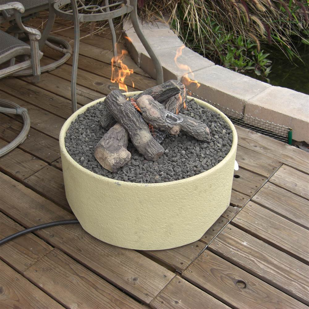 Stucco Patio Fire Pit