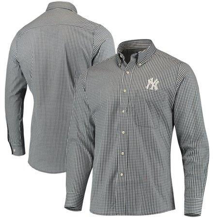New York Yankees Antigua Associate Button Down Dress Shirt - Navy -  Walmart.com 73bb7b6aad0