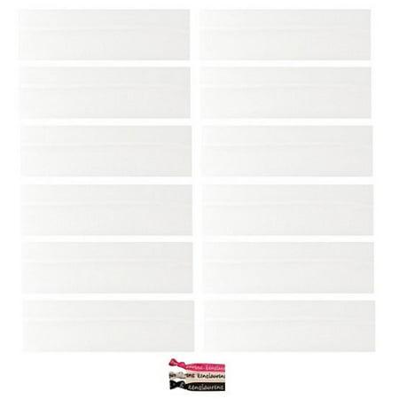 Kenz Laurenz Cotton Headbands 12 Soft Stretch Headband Sweat Absorbent Elastic Head Band White](White Headband)