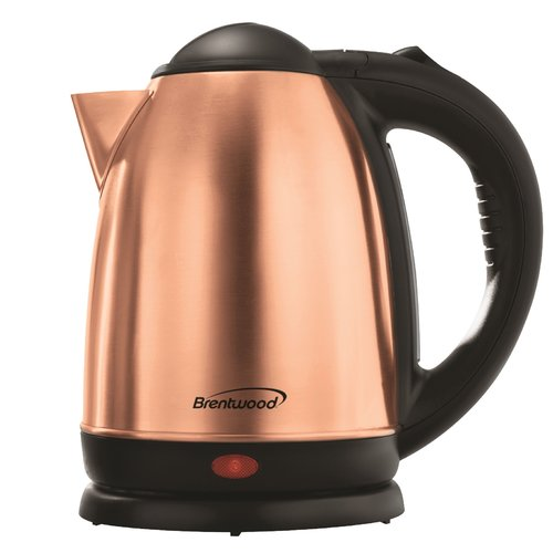 Brentwood Appliances 1.7 Qt. Cordless Stainless Steel Electric Tea Kettle
