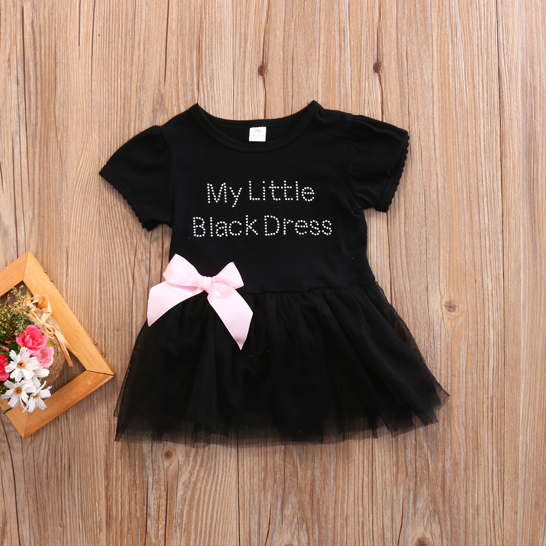c27cf78d1652 Gaono - Infant Baby Girls My Little Black Dress Bodysuit Tutu Romper  Jumpsuit Outfits - Walmart.com