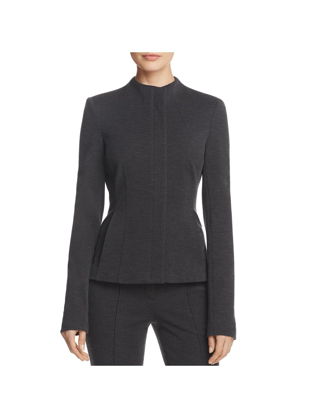 Theory Womens Knit Sculpted Basic Jacket