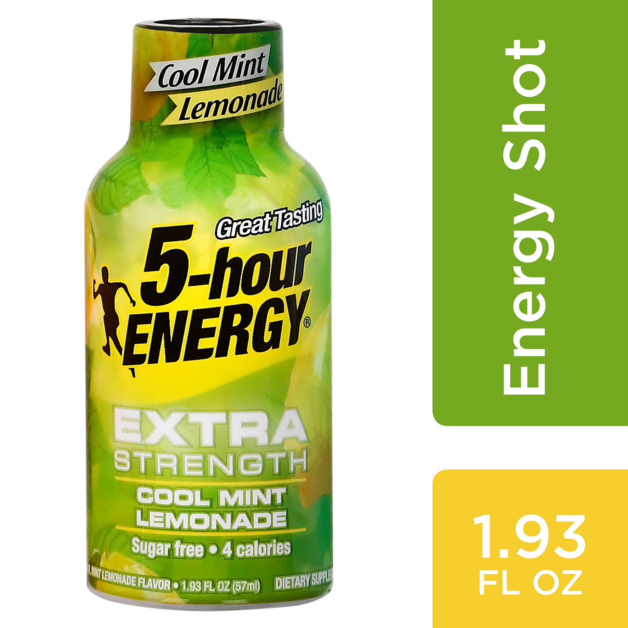 5-hour ENERGY® Extra Strength Cool Mint Lemonade Flavor, Low Calorie Single Energy Shot