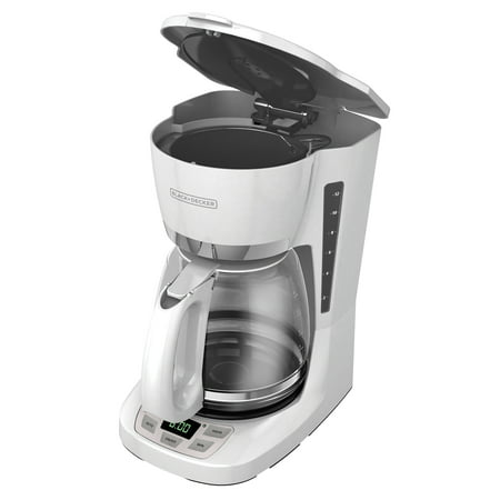 BLACK+DECKER 12-Cup* QuickTouch Programmable Coffeemaker, White, CM1060W (White Thermal Programmable Coffee Maker)