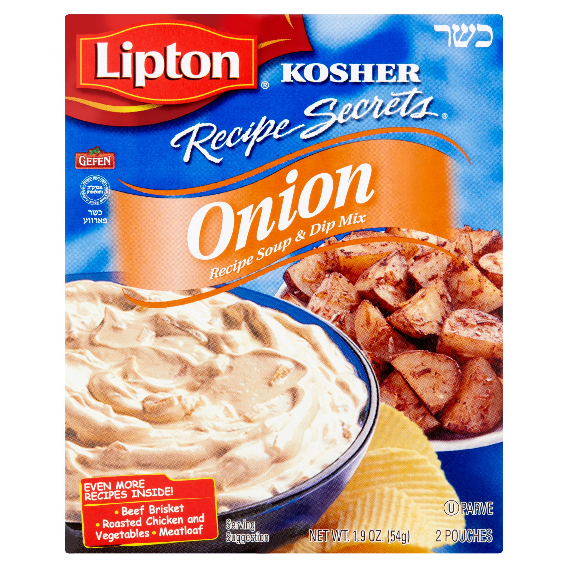 Lipton Recipe Secrets Kosher Onion Recipe Soup & Dip Mix, 2 count, 1.2 oz