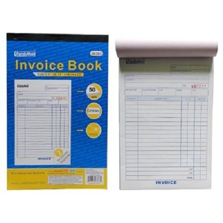 1 book of INVOICE Receipt Record BOOK 2-Part 50 Sets Numbered Original Carbonless Duplicate