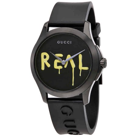 Gucci Ghost G-Timeless Black Dial Black Rubber Mens Watch YA1264017