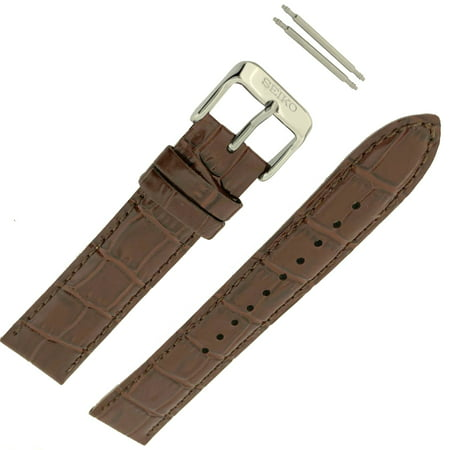 Leather Strap Brown 20mm Factory Original Watch Band spring bars