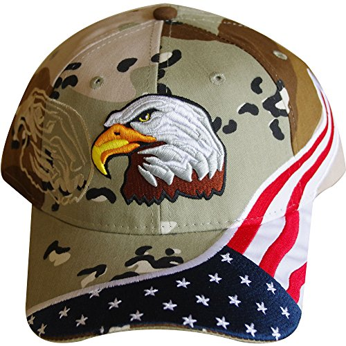 American Flag Hat - USA Eagle Baseball Cap with 100,000 Embroidery Stitches (Navy), Great Dad Gift