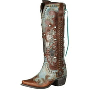 Lane Western Boots Womens Ammunition Studs Cross Turq Brown DD9001A