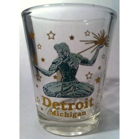 Detroit Michigan The Spirit Of Detroit Shot Glass