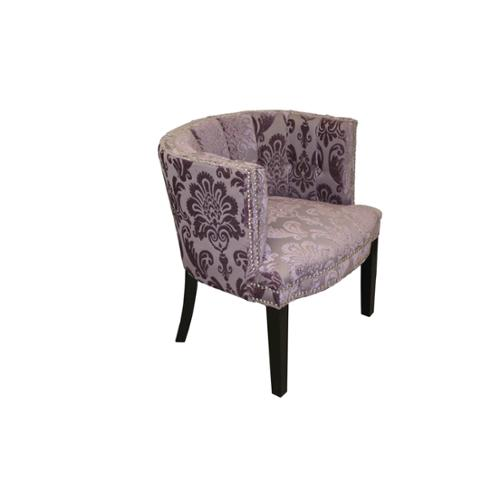 HD Couture Bohemian Black Plum Fan Damask Arm Chair