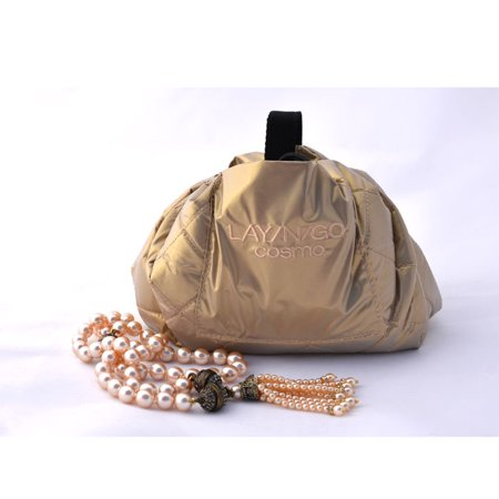 Lay-N-Go COSMO Cosmetic Bag, Gold Metallic