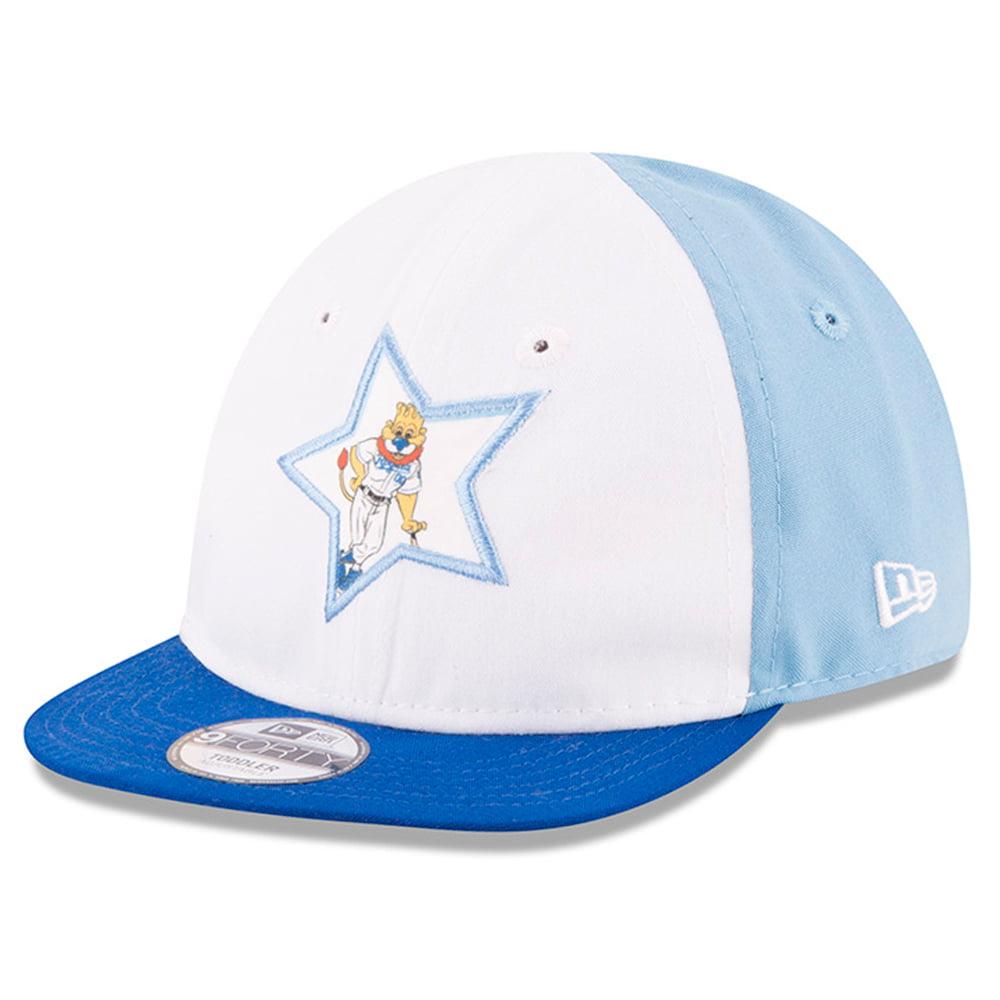 Kansas City Royals New Era Infant Mascot Star 9FORTY Adjustable Hat - White/Royal - OSFA