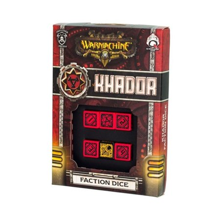 Q-Workshop Warmachine Khador Faction Dice Set (6 Piece Set)