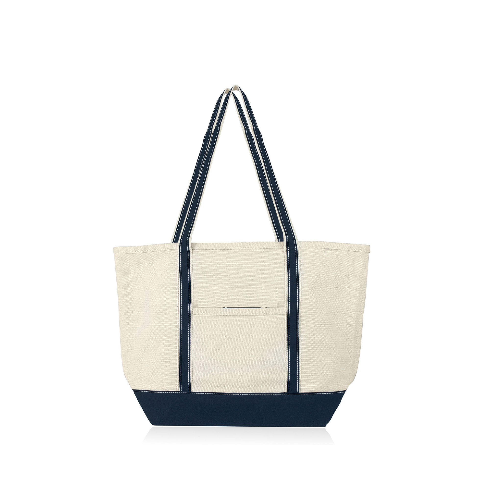Deluxe XL Heavy Duty 24oz Natural Canvas Boat Tote / Beach Bag ...