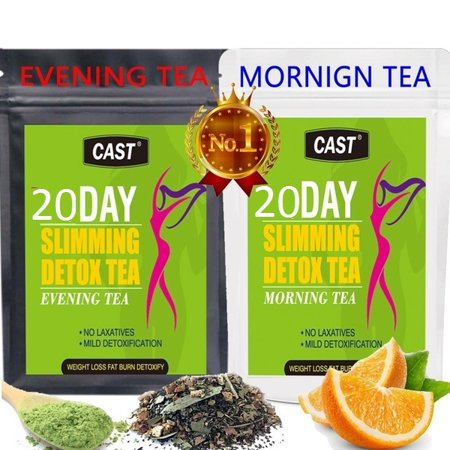 Detoxification Slimming Tea Fit Morning And Night Herbal Weight Loss Tea 20 Day Natural Weight Loss, Body Cleanse and Appetite Control Tea (Best Slimming Shakes Uk)