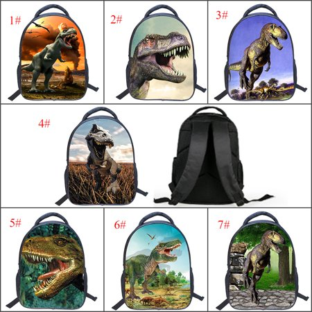 2018 new semester Cool Dinosaur Animal Kids School Backpack 3D Dinosaur Drawing Children Book Bag for (Dyno Bag)