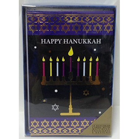 Hanukkah Cards (16 Cards with 4 Designs, Style 4) ()