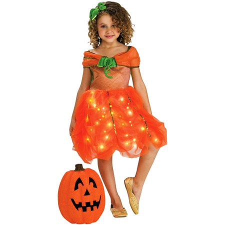 Lite Up Pumpkin Princess Toddler Halloween Costume - Easy Pumpkin Halloween Costume