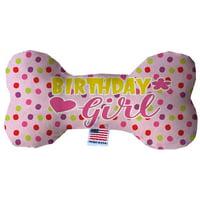 Birthday Girl 6 Inch Fluffy Bone Dog Toy