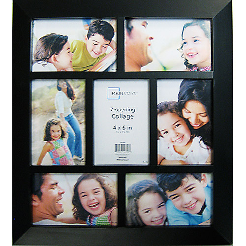 Mainstays Bridgeport 7-Opening Frame Collection, Black