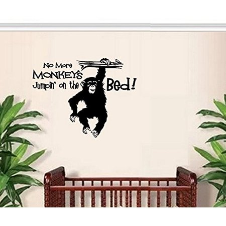 No more Monkeys Jumpin' on the Bed #3 ~ Wall or Window Decal (13