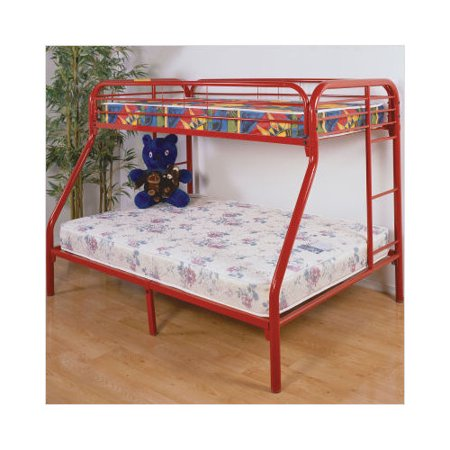 brookhaven home gavin twin over full metal bunk bed in red. Black Bedroom Furniture Sets. Home Design Ideas