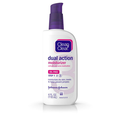 (2 pack) Clean & Clear Essentials Dual Action Facial Moisturizer, 4 fl.