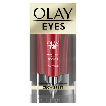 - Olay Eyes Pro Retinol Eye Cream Treatment for crow's feet, 0.5 fl oz