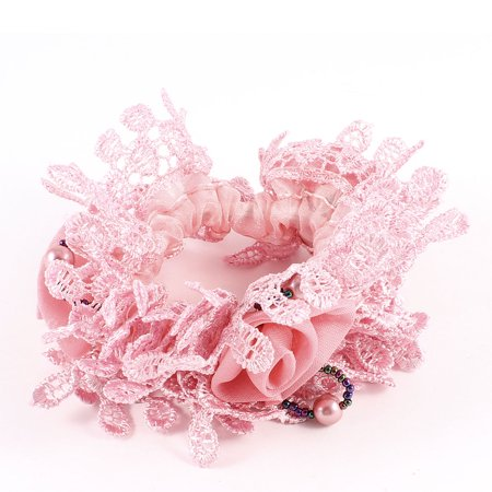 Unique Bargains Ladies Stretchy Band Hair Tie Band Ponytail Hairdressing Dark Pink - image 1 de 1