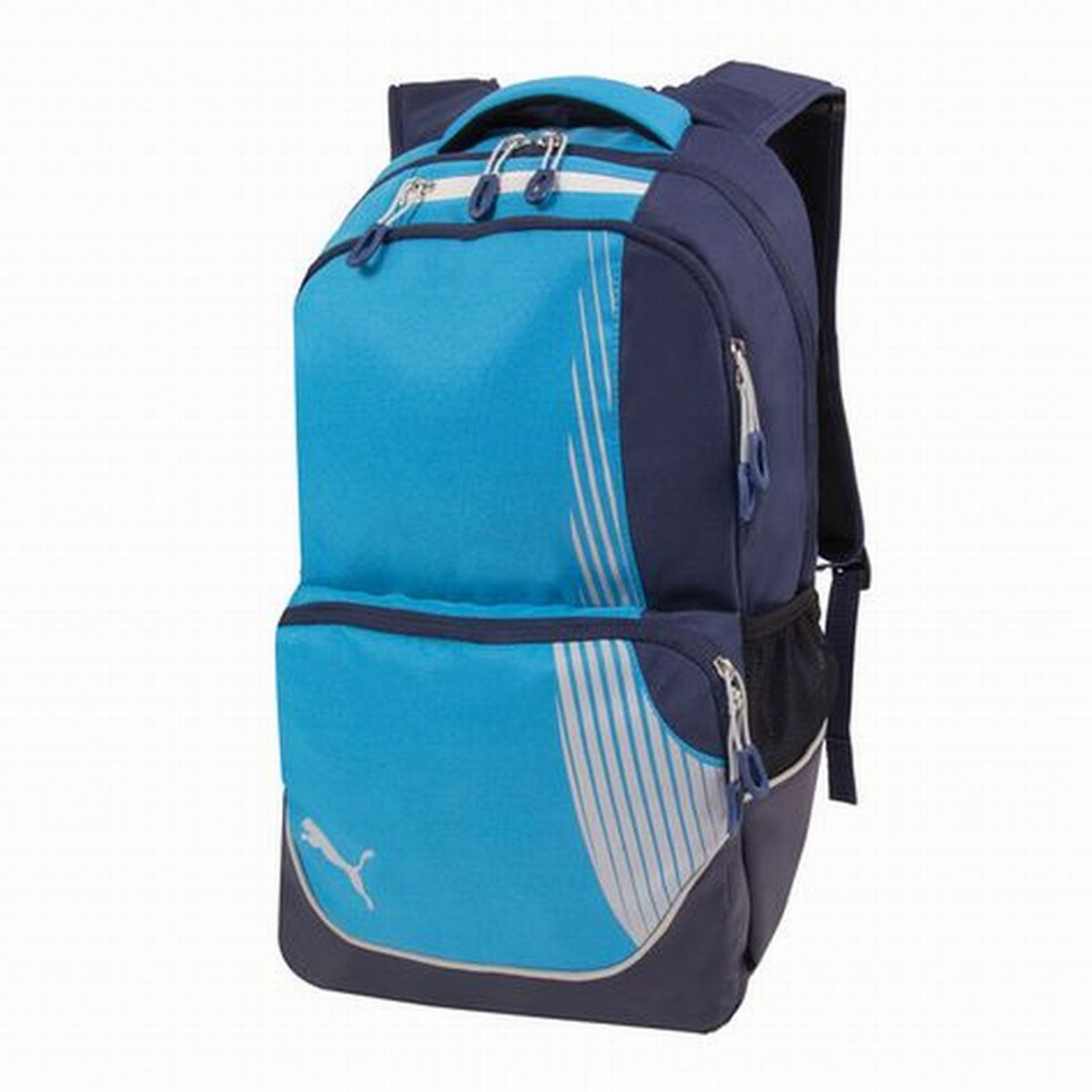 Puma Rapide Blue & Gray Backpack with Padded Laptop Sleeve Sport School Travel