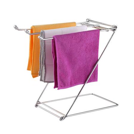 Akoyovwerve Folding Stainless Steel Towel Clothing Drying Rack Shelf for Kitchen Bathing Restaurant Product information: Material: Stainless steel Packing size: about 31.3*15*2.5cm / 12.32*5.91*0.98in Weight: about 370g (Product weight 320g) Uses: Home Kitchen Western Restaurant etc. Features: 1. Solid stainless steel, stronger weight bearing capacity 2. Anti-collision silicone sleeve can prevent wall from scratches 3. Employing Z-shaped engineering design, it is beautiful and simple. 4. Three towel bars for hanging more towels. 5. This towel rack is foldable, convenient and practical. Packing List: 1* towel rack