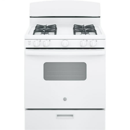 GE Appliances JGBS10DEMWW 30 Inch Gas Freestanding Range White White Freestanding Gas Range