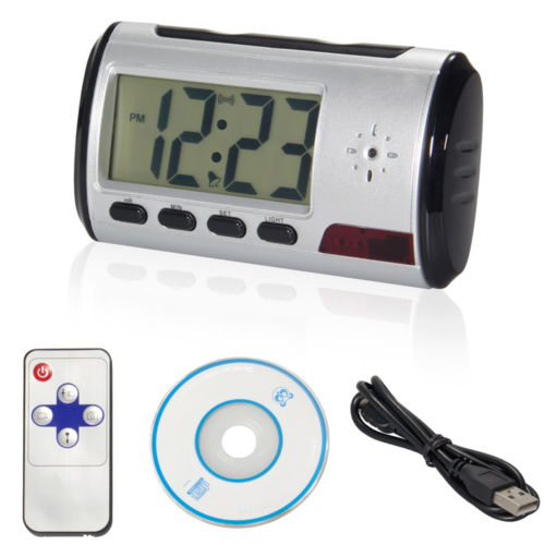 Kingslim Spy Camera Alarm Clock Micro Hidden Nanny Cam Motion Detection Mini DV DVR Video