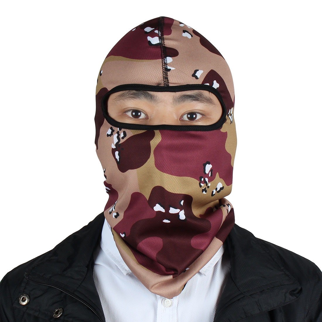 Outdoor Unisex Lycra Neck Face Mask Camo Head Cover Balaclava Hood Multicolor by