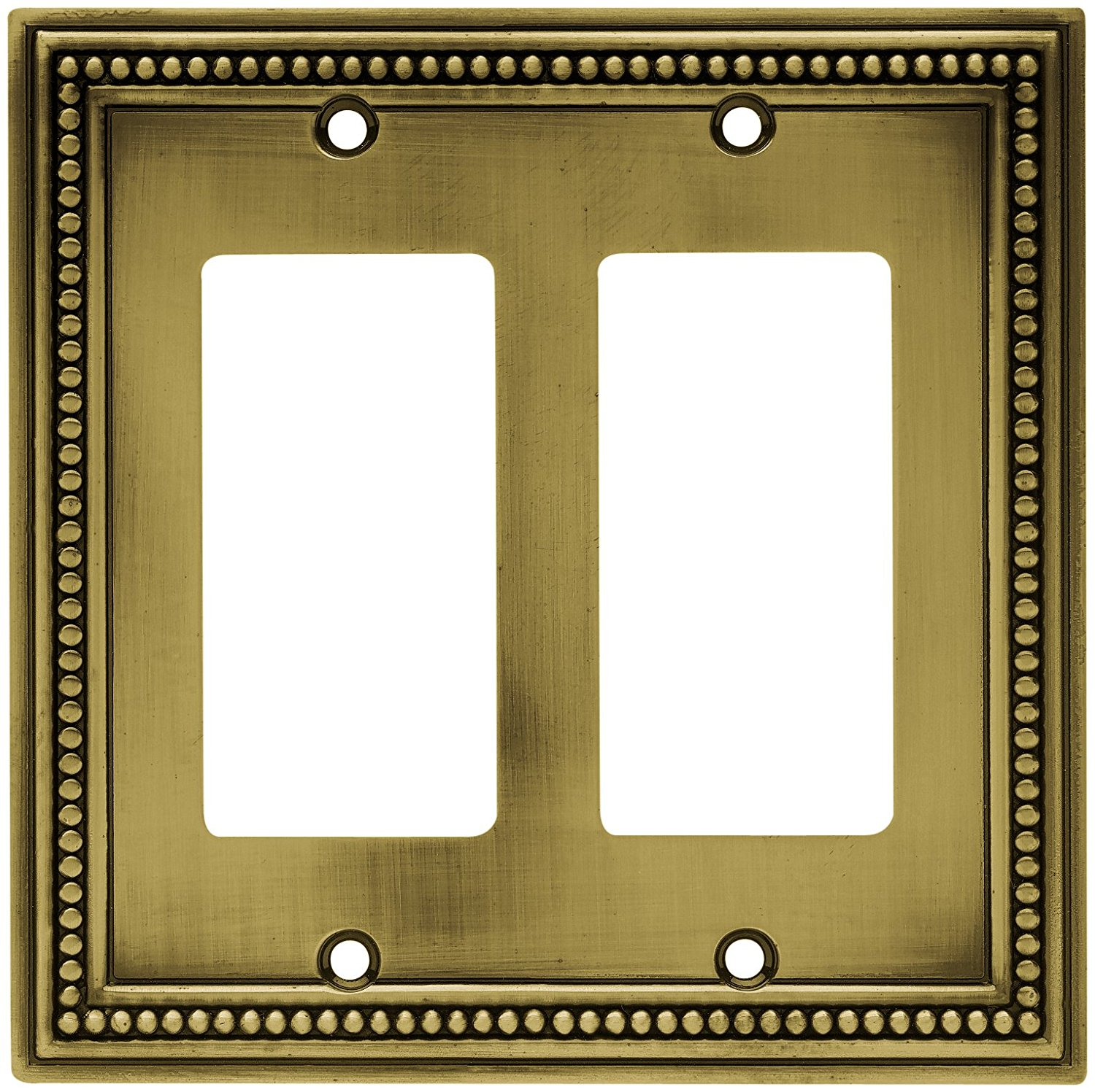 64403 Beaded Double Decorator Wall Plate Switch Plate Cover