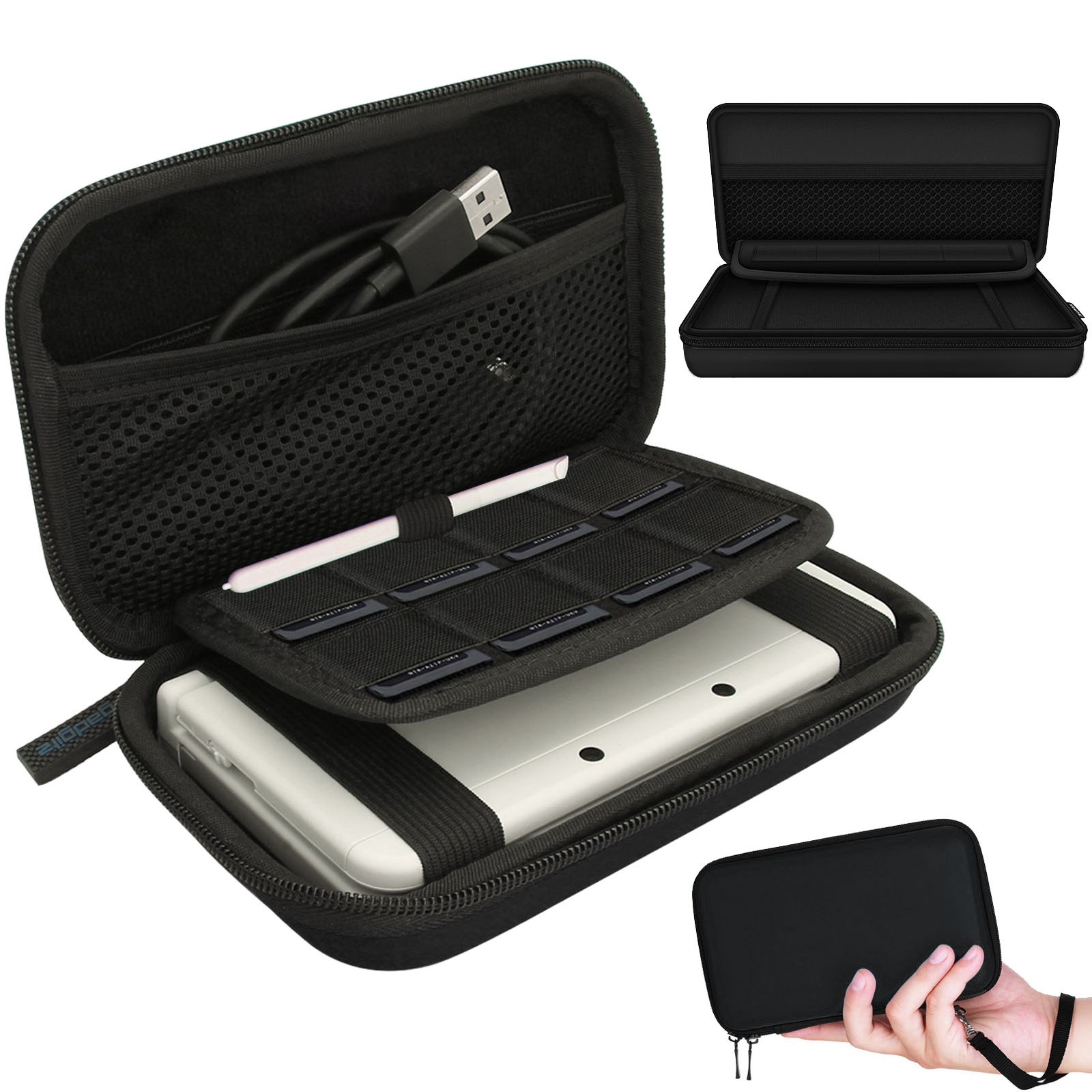 EVA Hard Protective Carry <mark>Case</mark> Bag Pouch For New <mark>Nintendo</mark> 3DS XL 3DS LL 3DS