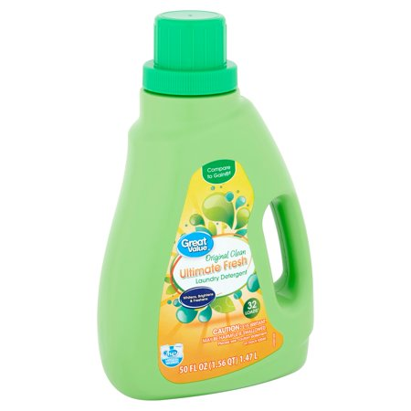 Great Value Ultimate Fresh Original Clean Laundry Detergent, 32 loads, 50 fl oz 32 Ounce Laundry Detergent