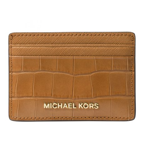 Money Pieces Crocodile-effect Leather - Card Holder - Acorn - (Crocodile Effect Leather)