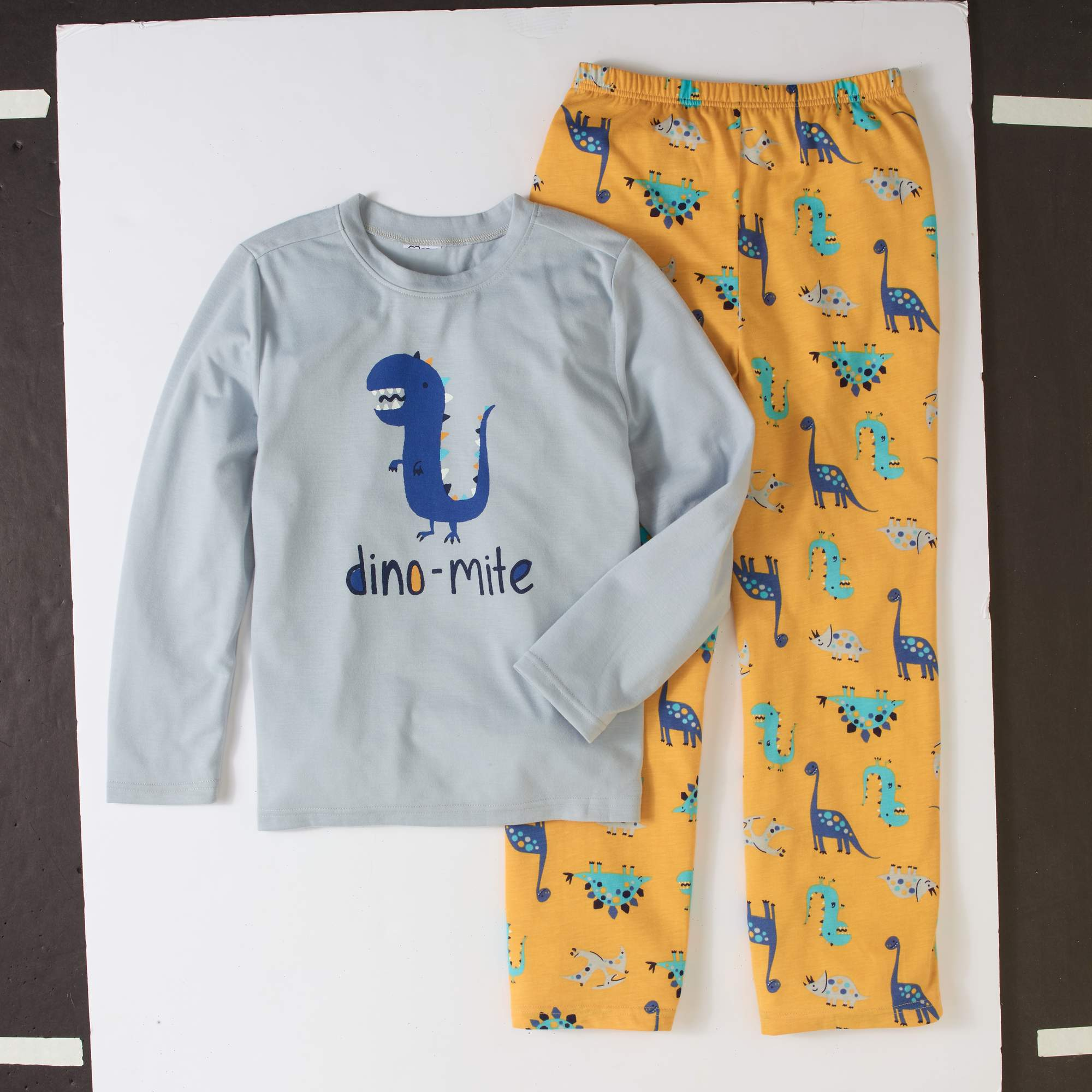 Toast & Jammies Boys' Brushed Jersey Long Sleeve Top and Pants 2 - Piece Sleepwear Set