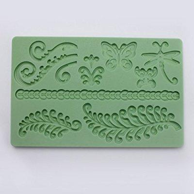 fondant and gum paste silicone mold, ferns cake decorating sugarcraft embossing mould