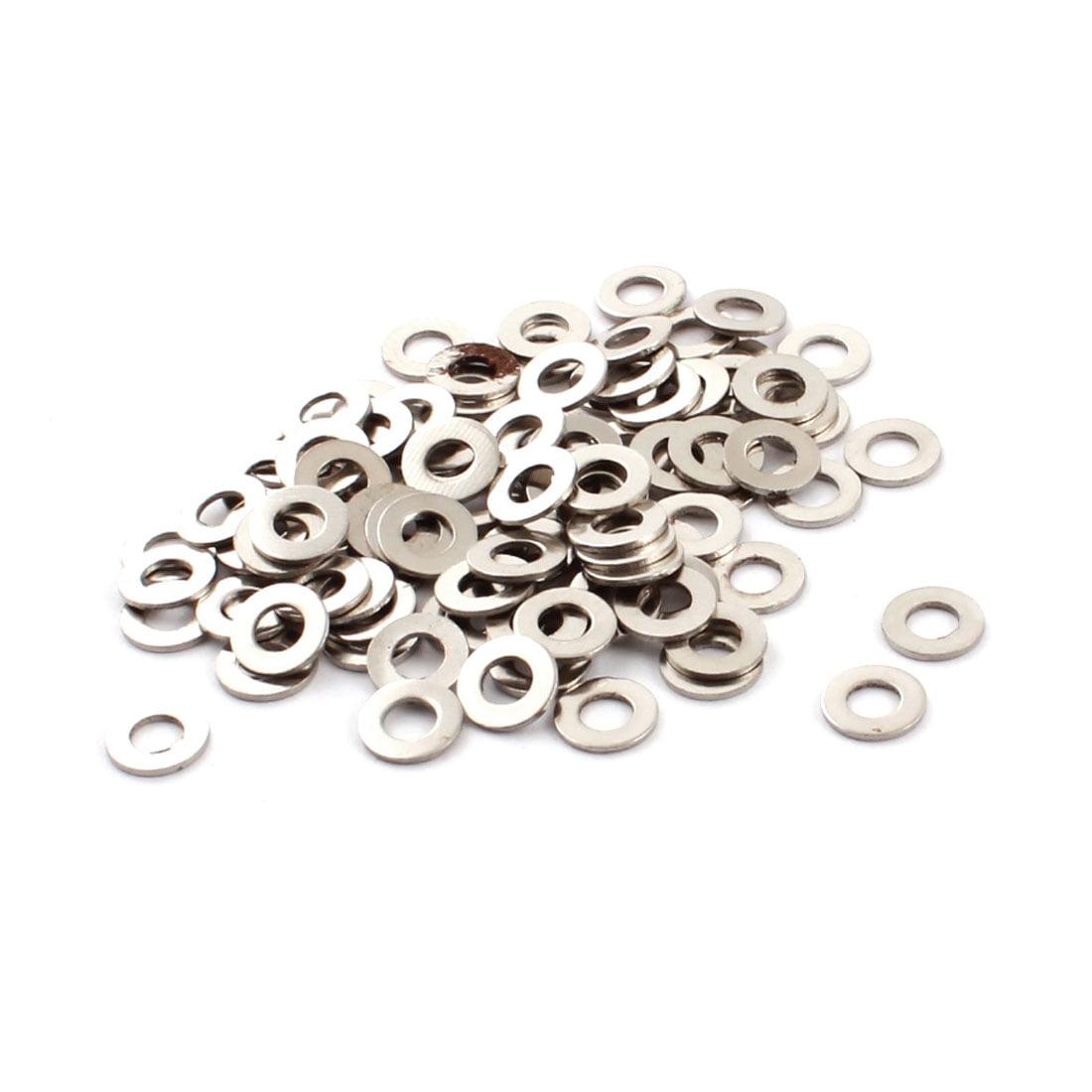 Unique Bargains 100pcs 4mm x 8mm x 0.7mm Spare Parts Spindle Metal