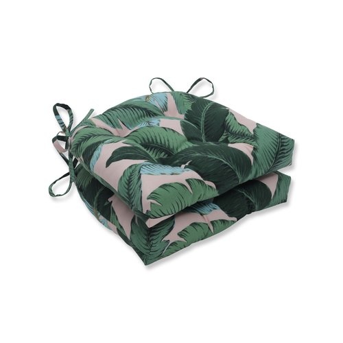Bay Isle Home Swaying Palms Reversible Indoor/Outdoor Dining Chair Cushion (Set of 2)