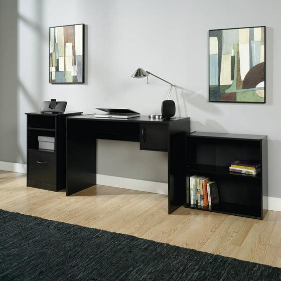Mainstays 3 Piece Office Set Black Walmart Com